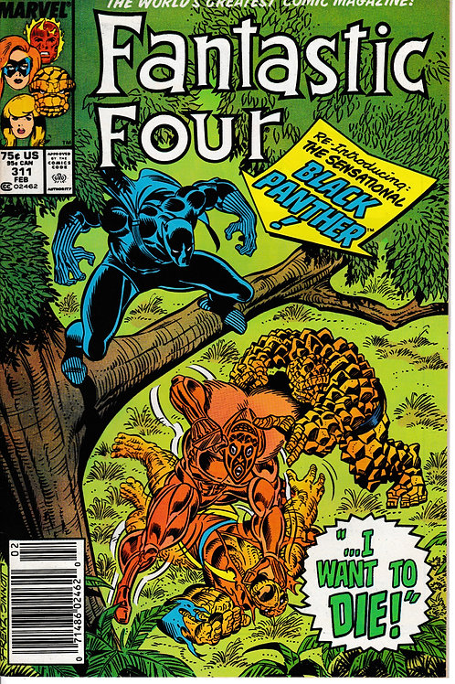 FANTASTIC FOUR 311 Feb 88  Guest Stars Black Panther