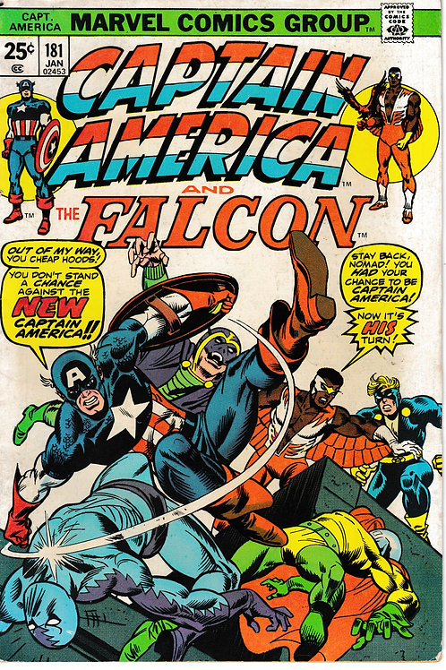 CAPTAIN AMERICA 181 Jan 75 Fine Origin New Captain