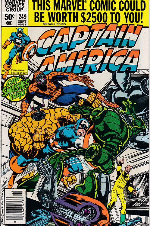 Captain America 249 Dragon Man John Byrne Art