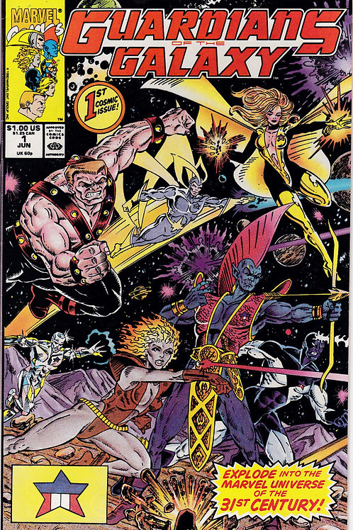 GUARDIANS OF THE GALAXY 1 Marvel Vol 1 Jun 90 1st Appearance Taserface