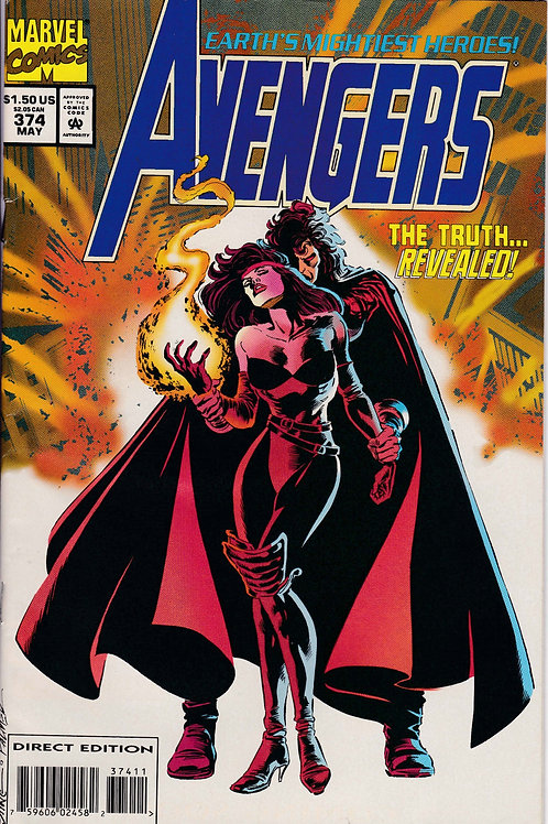 AVENGERS 374 Marvel Vol 1 May 94 Incl Masterprints Insert