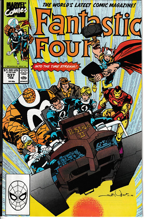 FANTASTIC FOUR 337 Feb 90 Iron Man & Thor guests