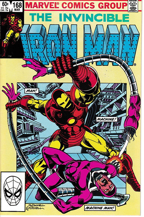 IRON MAN 168 Mar 83 Marvel Guest-starring Machine Man