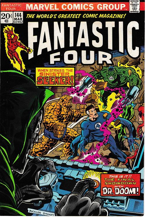 FANTASTIC FOUR 144 Mar 74 Marvel Verses Dr Doom