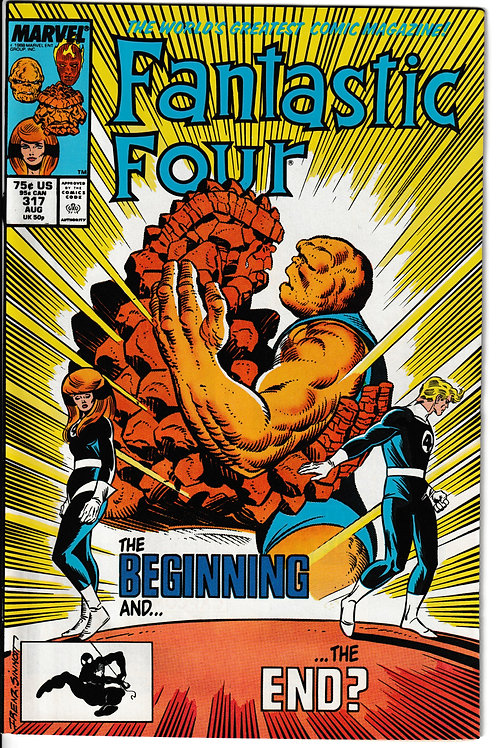 FANTASTIC FOUR 317 Aug 88  New Old Stock Never Read Comet Man Appearance