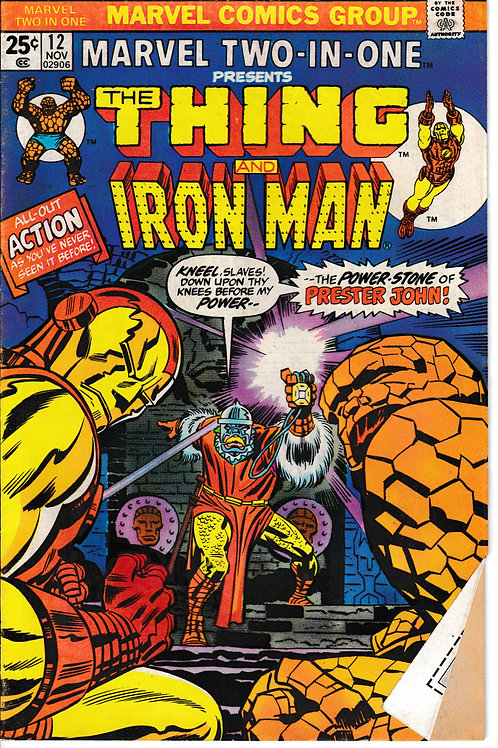 MARVEL TWO-IN-ONE 12 Nov 75 The Thing & Iron Man