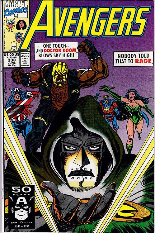 AVENGERS 333 Marvel Vol 1 Jun 91 Doctor Doom Daredevil Fantastic Four