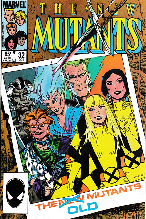 NEW MUTANTS 32 Marvel Oct 85 Warlock & Storm