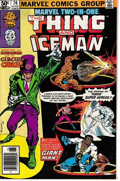 MARVEL TWO-IN-ONE 76 THE THING & ICEMAN