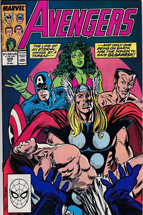 AVENGERS 308 Marvel Vol 1 Oct 89 Never Read NOS Guest Stars Sersi John Byrne