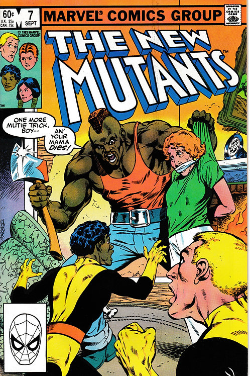NEW MUTANTS 7 Marvel Sept 83  Claremont Script