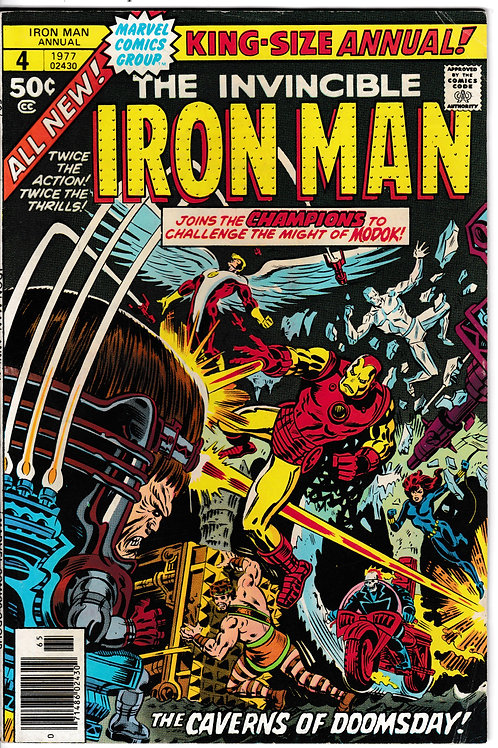 IRON MAN ANNUAL 4 1977 Guest-starring the Champions