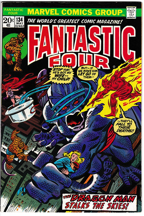 FANTASTIC FOUR 134 May 73 Marvel Vol 1 1st Full Gerry Conway