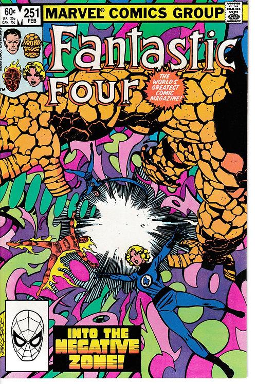 FANTASTIC FOUR 251 Feb 83 Story & Art John Byrne The Negative Zone