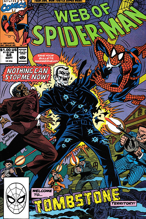 WEB OF SPIDER-MAN 68 Marvel Sept 90 New Tombstone