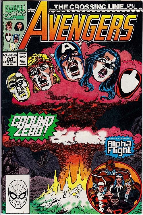 AVENGERS 323 Marvel Vol 1 Sept 90 Never Read NOS Guest Stars Alpha Flight