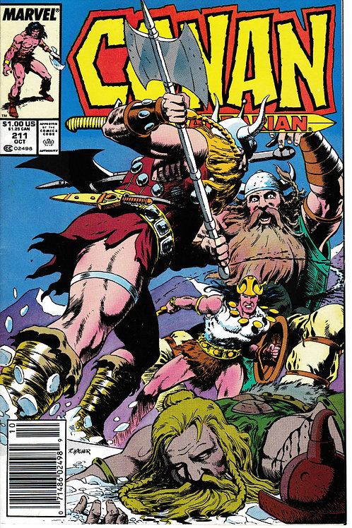 CONAN THE BARBARIAN 211 Marvel Oct 88  Narrow House, script by Jim Owsley
