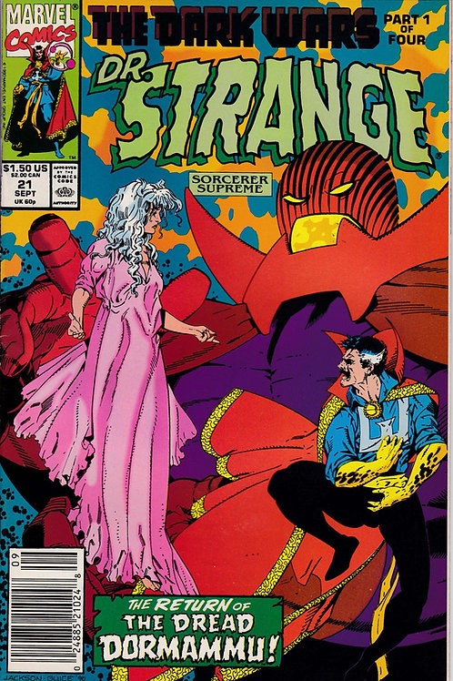 DOCTOR STRANGE SORCERER SUPREME 21 Marvel Sept 90  Dark Wars Pt 1
