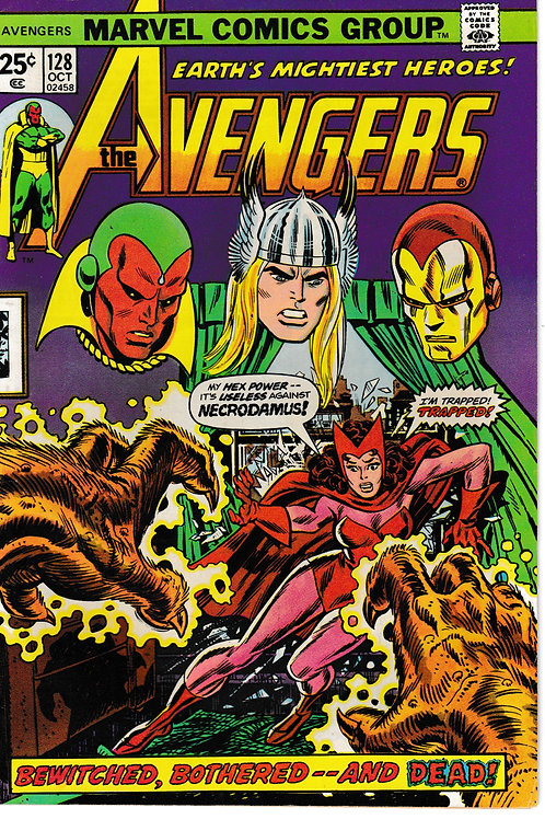 AVENGERS 128 Oct 74 Thanos Cameo