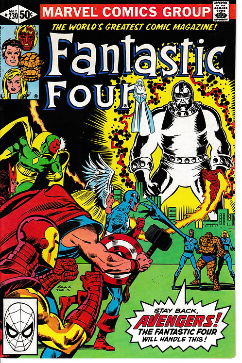FANTASTIC FOUR 230 May 81 Avengers Appearance