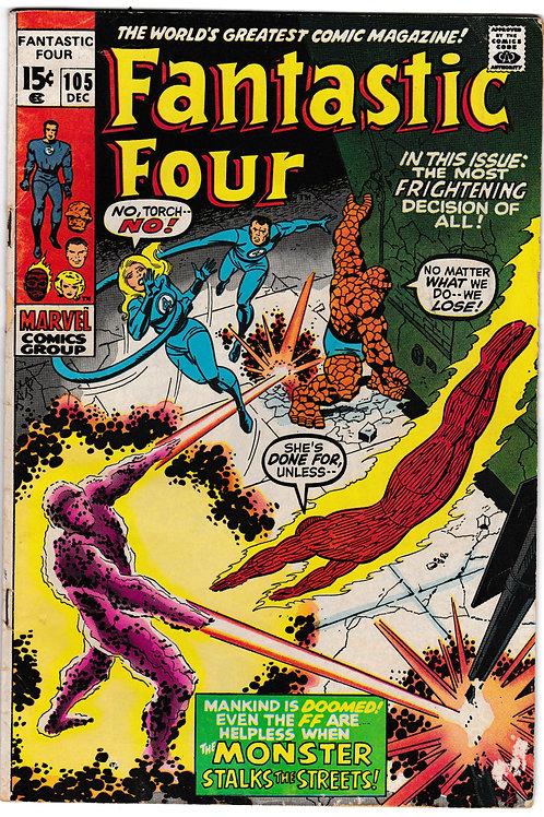FANTASTIC FOUR 105 Dec 70  Marvel Vol 1 Human Torch