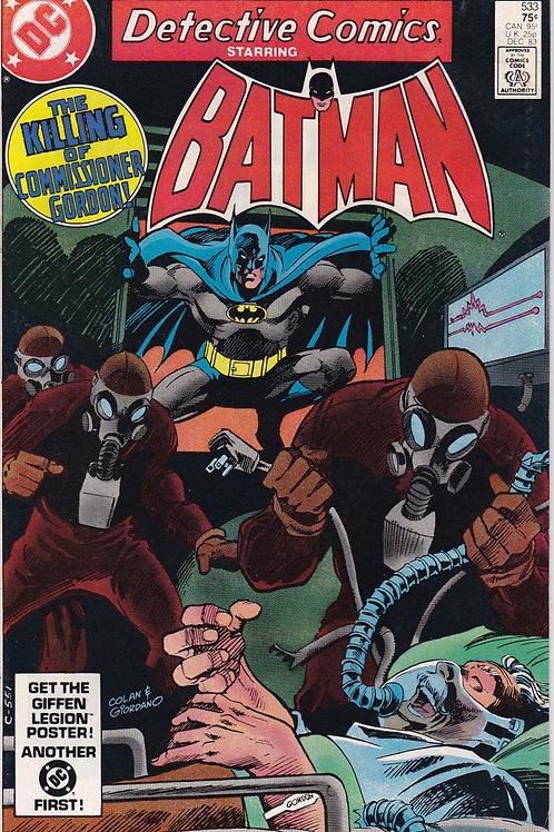 Detective Comics 533 Dec 83  Barbara Gordon Original Batgirl