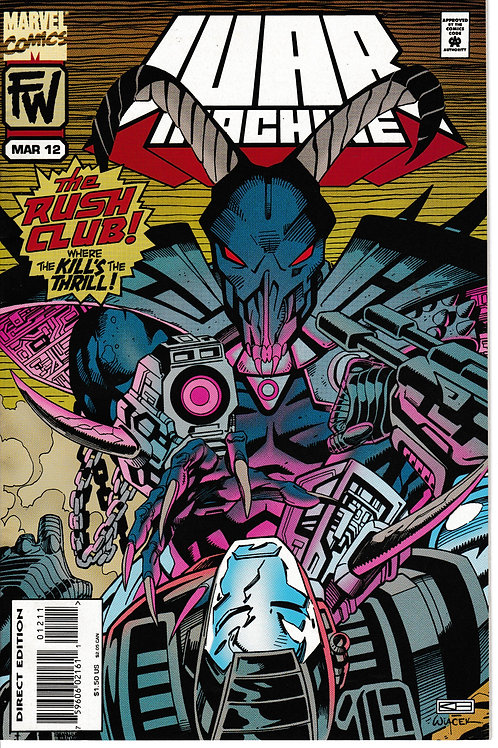WAR MACHINE 12 Marvel Mar 95 Quarry Appearance