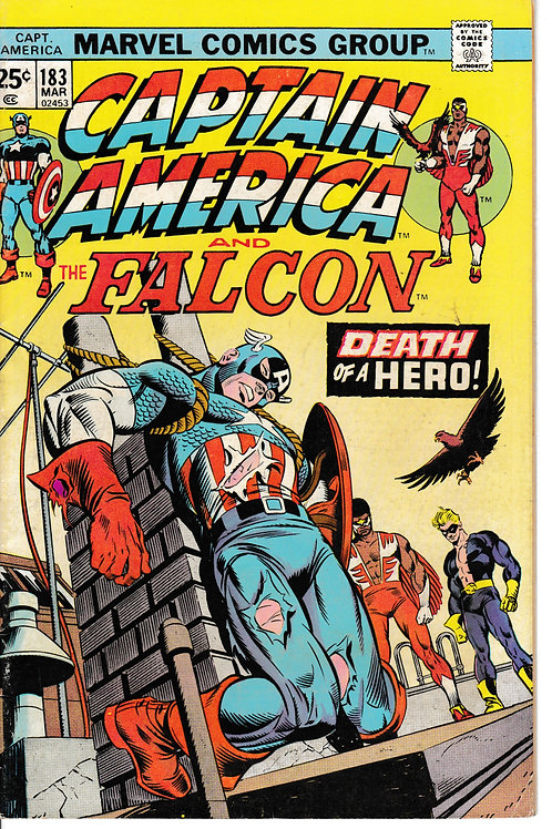 CAPTAIN AMERICA 183 Mar 75 Nomad Becomes Captain Again