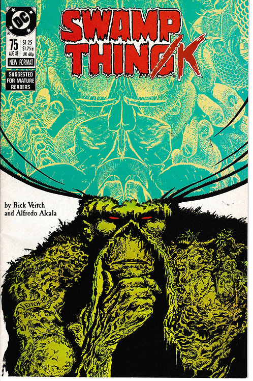 SWAMP THING 75 DC Aug 88 Elementals Story Continues in Hellblazer 9