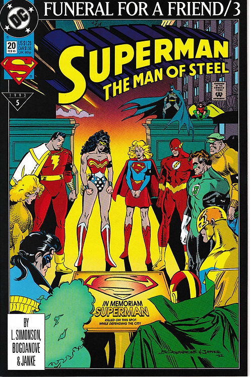 Superman The Man of Steel 20 DC Feb 93 Funeral for a Friend 3