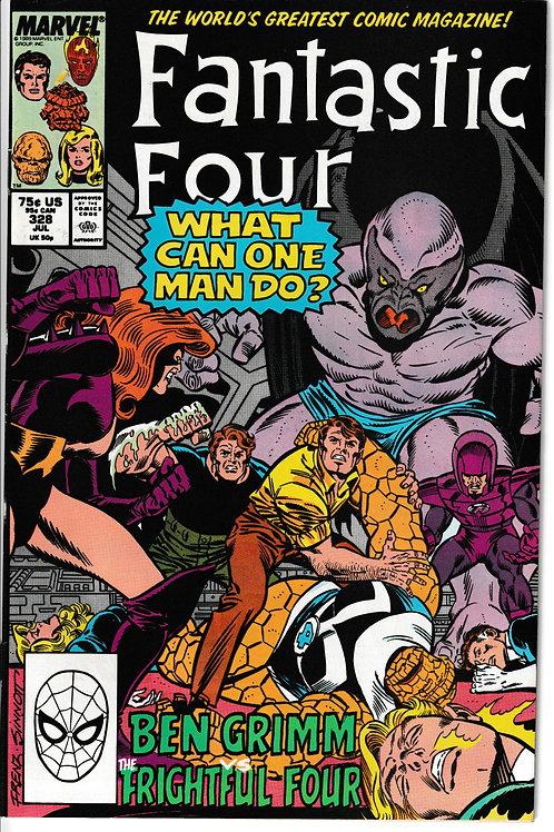 FANTASTIC FOUR 328 Jul 89 Frightful Four & Dragon Man App