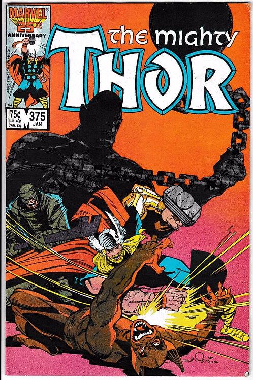 THOR 375 Jan 87 Walt Simonson  Appearance Tony Stark (Iron Man)