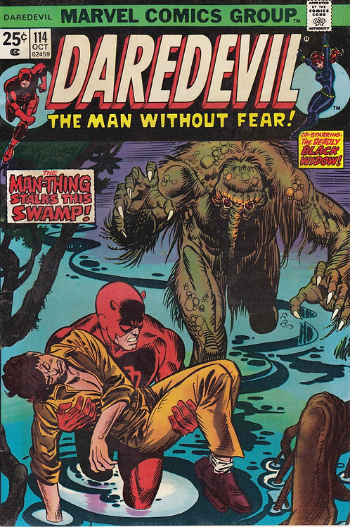DAREDEVIL 114 Oct 74 1st Full App Death Stalker Man Thing Gladiator