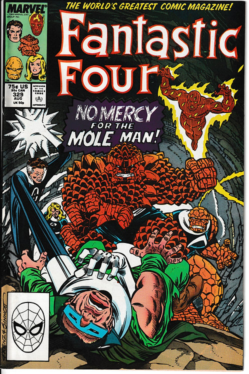 FANTASTIC FOUR 329 Aug 89 FF Verses Mole Man