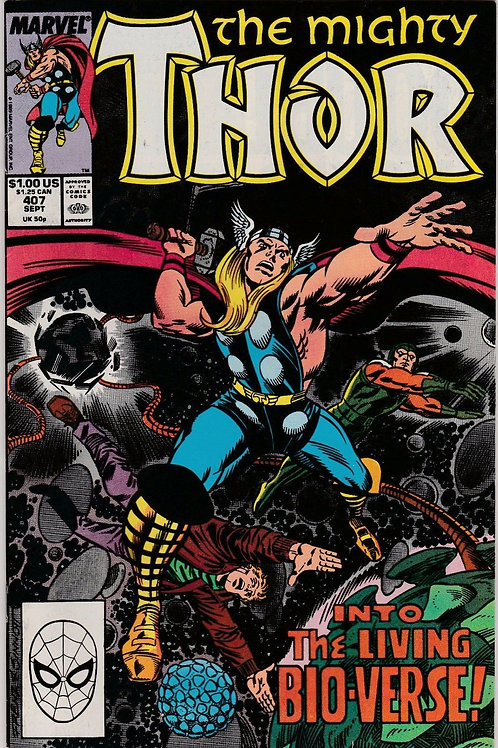 THOR 407 Sept 89 Menace of the Living Universe