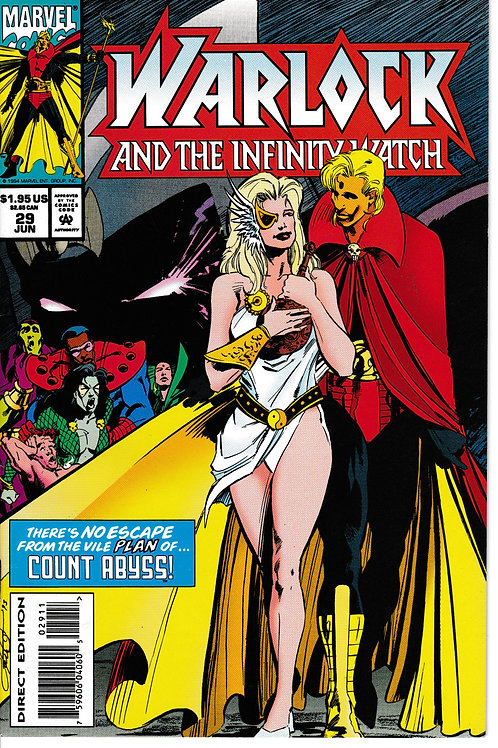 WARLOCK AND THE INFINITY WATCH 29 Marvel Mar 94 Count Abyss Appearance