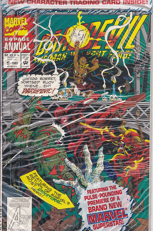 DAREDEVIL ANNUAL 9 Vol 1 1993 Polybagged with Devourer card