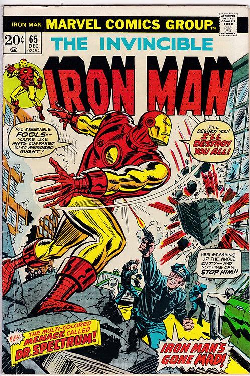 Iron Man 65 Dec 73 Cameo Appearances Luke Cage & Thor