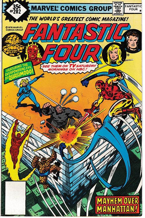 FANTASTIC FOUR 202 Jan 79 Marvel Vol 1 Quasimodo
