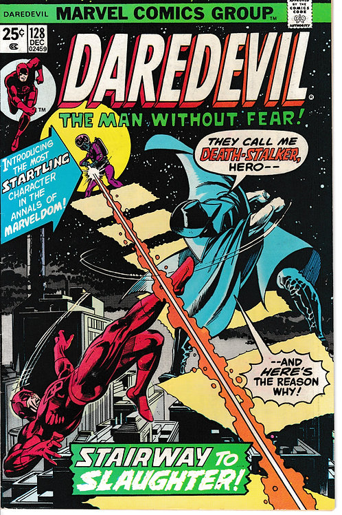 DAREDEVIL 128 Dec 75 Death Stalker Appearance of the Copperhead