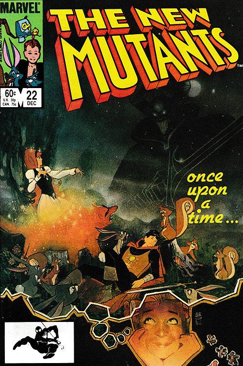 NEW MUTANTS 22 Marvel Dec 84 Brief Colossus App