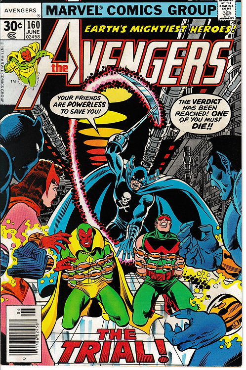 AVENGERS 160 Jun 77the Grim Reaper Shows Up