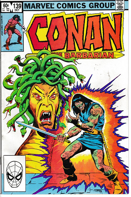 CONAN THE BARBARIAN 139 Oct 82 Marvel John Buscema cover