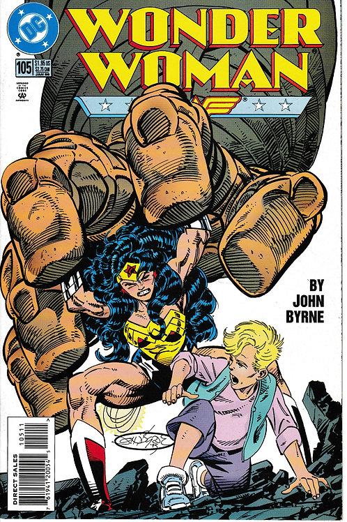 WONDER WOMAN 105 Jan 96 DC 2nd Series Phantom Stranger cameo. John Byrne