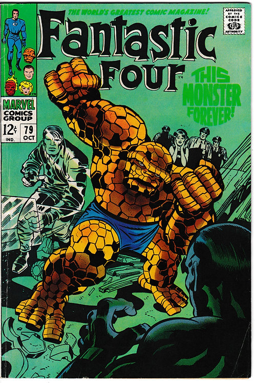 FANTASTIC FOUR 79 Oct 68 Marvel Vol 1 Stan Lee and Jack Kirby Script