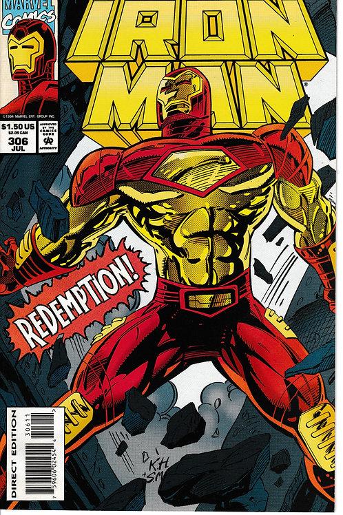 IRON MAN 306 Jul 94 Captain America & Nick Fury Cameos
