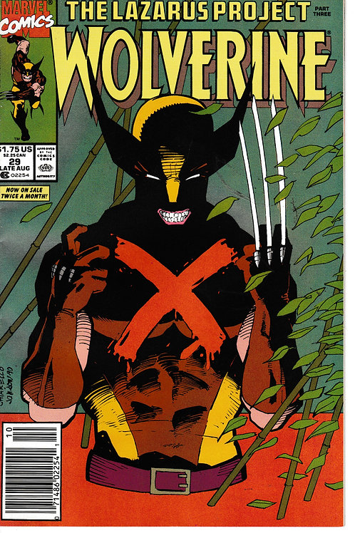 WOLVERINE 29 Marvel Aug 90 Lazarus Project Part 3 of 4