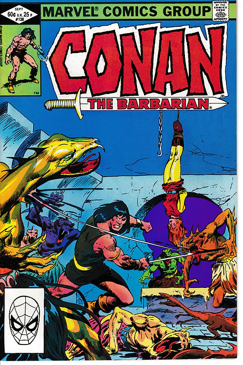 CONAN THE BARBARIAN 138 Sept 82 Marvel John Buscema cover