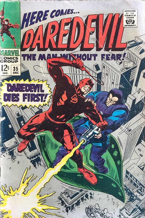 DAREDEVIL 35 Dec 67 Daredevil VS the Trapster