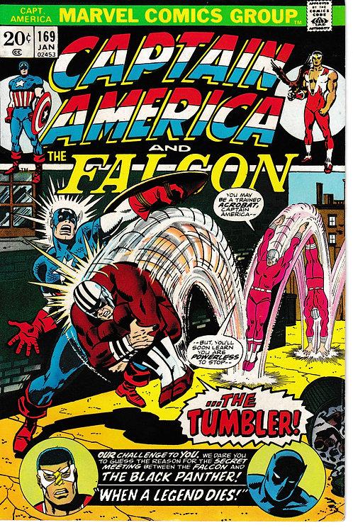 CAPTAIN AMERICA 169 Jan 73 Very Fine+ 1st App Roscoe Captain America for a time